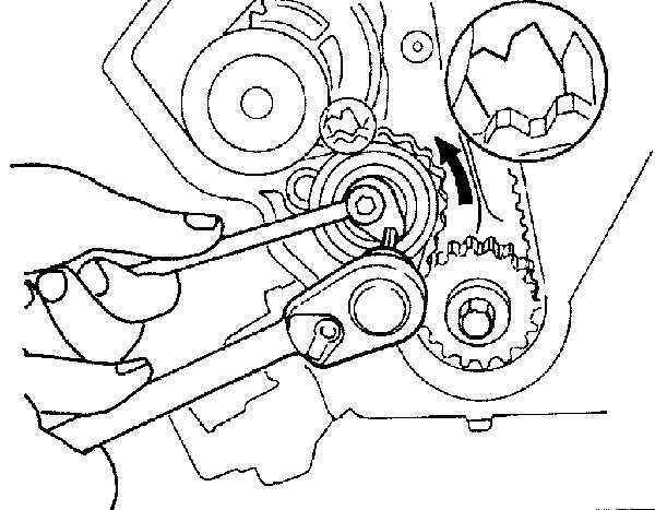 Как поменять ремень грм на опель вектра